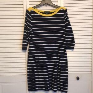 Lauren Ralph Lauren Navy - White Stripe Dress SZXL